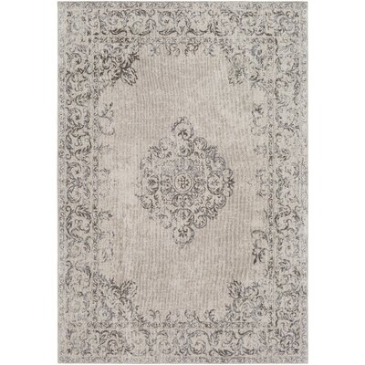 Payne Hand-Woven Medium Gray/Beige Area Rug Rug Size: Rectangle 5 x 76