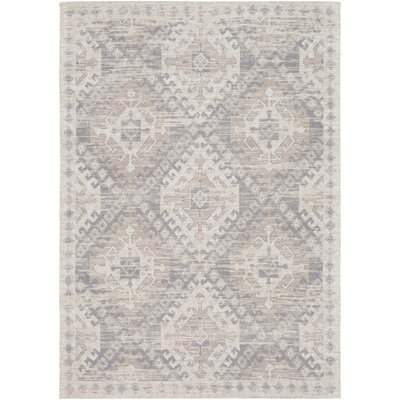 Hamza Hand-Woven Medium Gray/Taupe Area Rug Rug Size: Rectangle 2 x 3