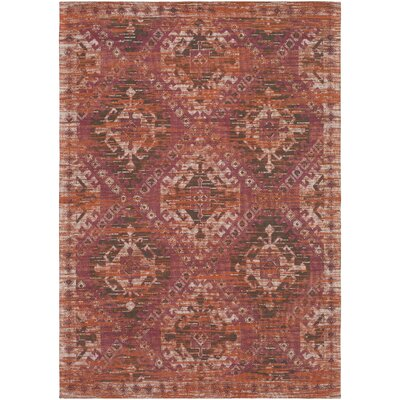 Hamza Hand-Woven Garnet/Burnt Orange Area Rug Rug Size: 2 x 3