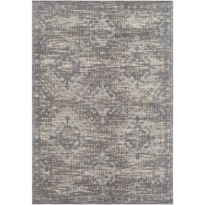 Hamza Hand-Woven Medium Gray/Beige Area Rug Rug Size: Rectangle 5 x 76
