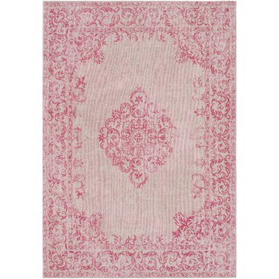 Payne Hand-Woven Bright Pink/Blush Area Rug Rug Size: 2 x 3