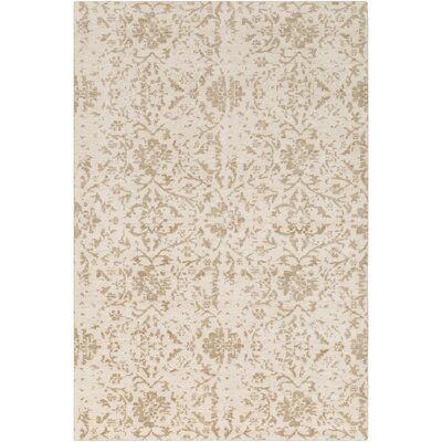 Ashton Hand-Knotted Camel/Khaki Area Rug Rug Size: Rectangle 6 x 9
