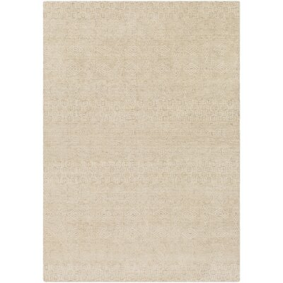Ashton Hand-Knotted Khaki/Cream Area Rug Rug Size: Rectangle 6 x 9