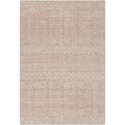 Ashton Hand-Knotted Rose/Khaki Area Rug Rug Size: Rectangle 6 x 9
