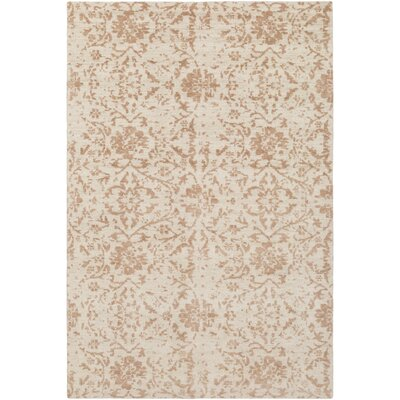 Ashton Hand-Knotted Camel/Cream Area Rug Rug Size: Rectangle 9 x 13
