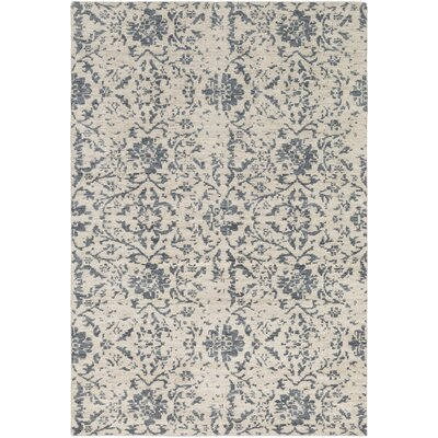 Ashton Hand-Knotted Denim/Khaki Area Rug Rug Size: 2 x 3