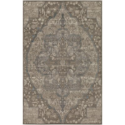 Ismael Floral Taupe/Cream Area Rug Rug Size: Rectangle 5 x 8