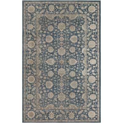 Ismael Navy/Beige Area Rug Rug Size: Rectangle 5 x 8