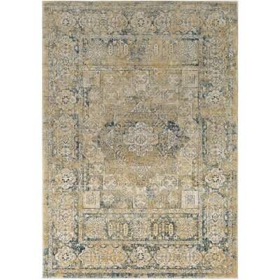 Gabrielle Navy/Saffron Area Rug Rug Size: Rectangle 53 x 76