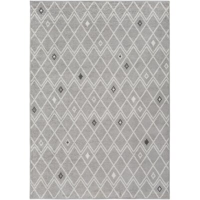 Corinna Medium Gray/Cream Area Rug Rug Size: 8 x 10