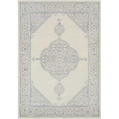 Corinna Medium Gray/Cream Area Rug Rug Size: Rectangle 8 x 10