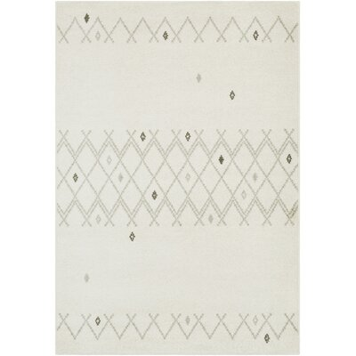 Corinna Cream/Medium Gray Area Rug Rug Size: 2 x 3