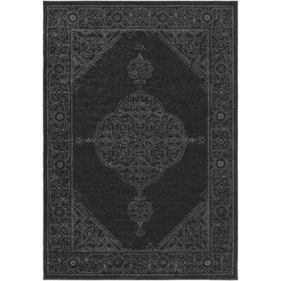 Corinna Black/Charcoal Area Rug Rug Size: Rectangle 2 x 3