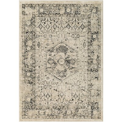 Gabrielle Black/Beige Area Rug Rug Size: Rectangle 2 x 3