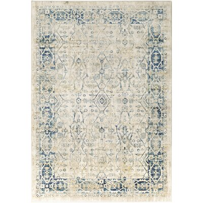 Gabrielle Navy/Khaki Area Rug Rug Size: Rectangle 710 x 103