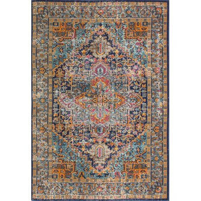 Blackwell Dark Blue Area Rug Rug Size: 87 x 117