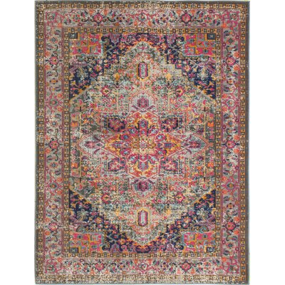 Ashburn Multi-Colored Area Rug Rug Size: 87 x 117