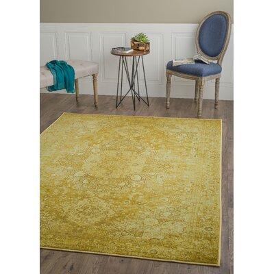 Azareu Gold Area Rug Rug Size: 710 x 103