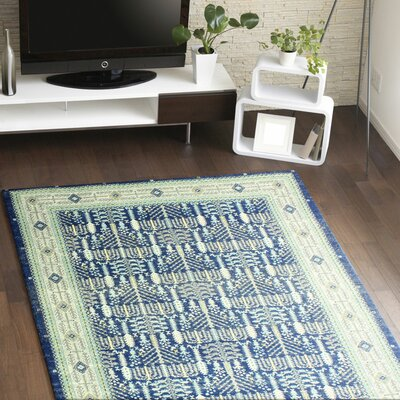 Felicienne Dark Blue Area Rug Rug Size: 37 x 56