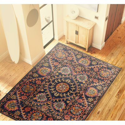 Ashburn Blue Area Rug Rug Size: Rectangle 37 x 57