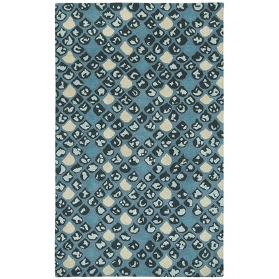 Lisbon Blue / Ivoryl Impressions Area Rug Rug Size: Rectangle 7 x 9