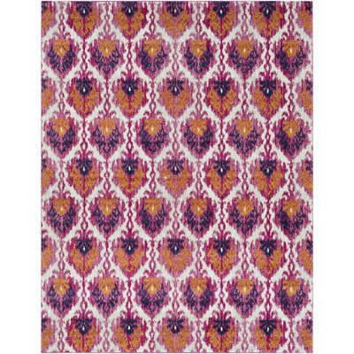 Hillsby Saffron/Pink Area Rug Rug Size: Rectangle 710 x 103
