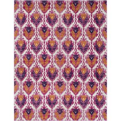 Hillsby Saffron/Pink Area Rug Rug Size: 710 x 103