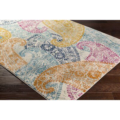 Hillsby Yellow/Blue Area Rug Rug Size: Runner 27 x 73