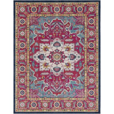 Hillsby Floral Pink Area Rug Rug Size: Rectangle 710 x 103