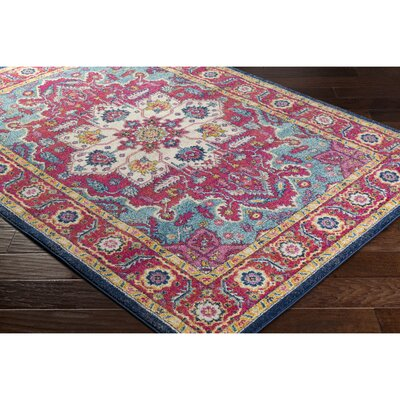 Hillsby Floral Pink Area Rug Rug Size: Runner 27 x 73