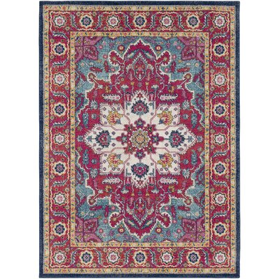 Hillsby Floral Pink Area Rug Rug Size: 53 x 73