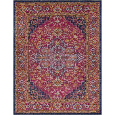 Koval Pink/Orange Area Rug Rug Size: 93 x 126
