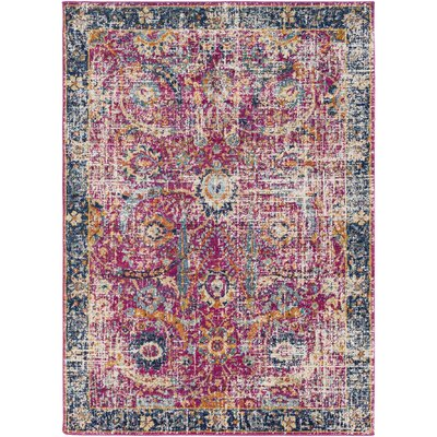 Hillsby Garnet Area Rug Rug Size: Rectangle 93 x 126