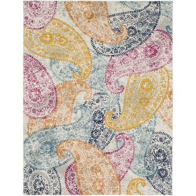Hillsby Yellow Area Rug Rug Size: Rectangle 93 x 126