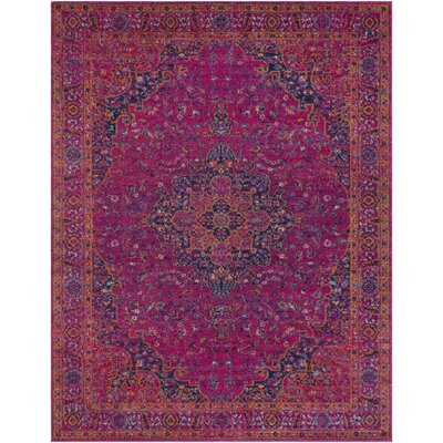 Hillsby Tibetan Pink Area Rug Rug Size: Rectangle 93 x 126