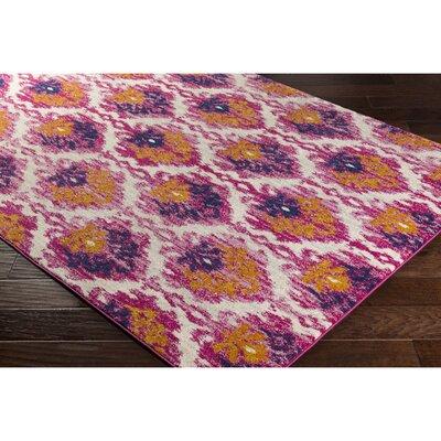 Andover Saffron/Pink Area Rug Rug Size: Runner 27 x 73