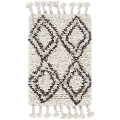 Royston Shag Hand-Woven Wool Cream Area Rug Rug Size: Rectangle 2 x 3