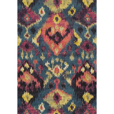 Theodora Teal Area Rug Rug Size: Rectangle 53 x 77
