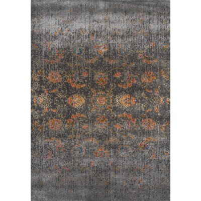 Forsythia Charcoal Area Rug Rug Size: 96 x 132