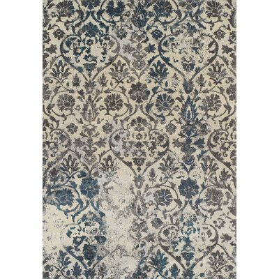 Theodora Teal Area Rug Rug Size: Rectangle 3'3