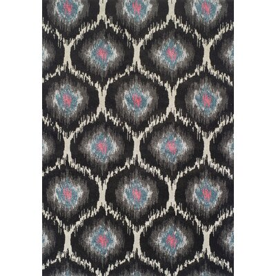Theodora Charcoal Area Rug Rug Size: Rectangle 53 x 77