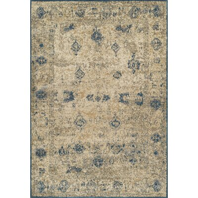 Forsythia Teal/ Ivory Area Rug Rug Size: Rectangle 33 x 51