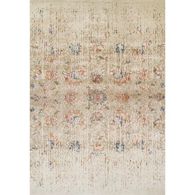 Forsythia Ivory Area Rug Rug Size: Rectangle 53 x 77