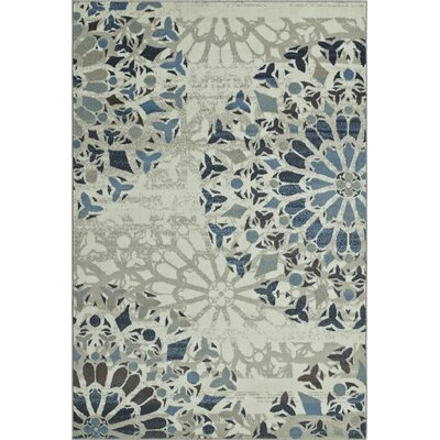 Birtha Ivory Area Rug Rug Size: Rectangle 82 x 10