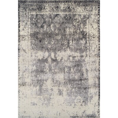 Forsythia Gray Area Rug Rug Size: 33 x 51