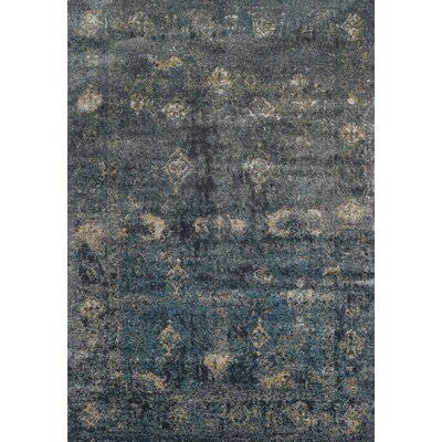 Forsythia Charcoal Area Rug Rug Size: Rectangle 53 x 77