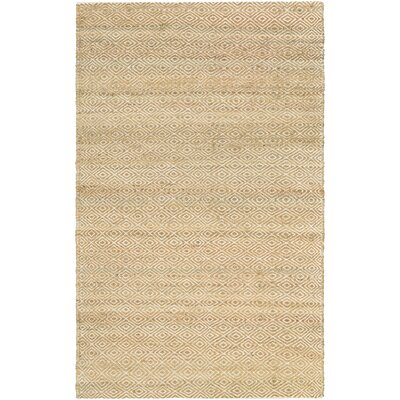 Uhlig Hand Woven Cotton Camel/Ivory Area Rug Rug Size: Rectangle 96 x 136