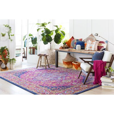 Koval Pink/Orange Area Rug Rug Size: Square 67