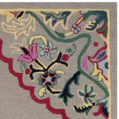 Blokzijl Hand-Tufted Dark Gray Area Rug Rug Size: Rectangle 89 x 12