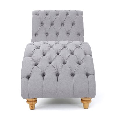 Almonburry Fabric Chaise Lounge Upholstery: Light Gray